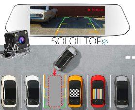 Illustrazione del sistema di ripresa invertito della CHORTAU Dash Cam da 7 pollici