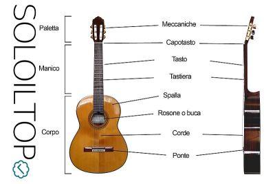 Parti della chitarra classica