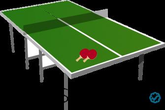Immagine a scopo illustrativo di un semplice tavolo da ping pong