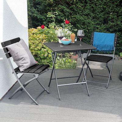 Tavolo da esterno con effetto legno