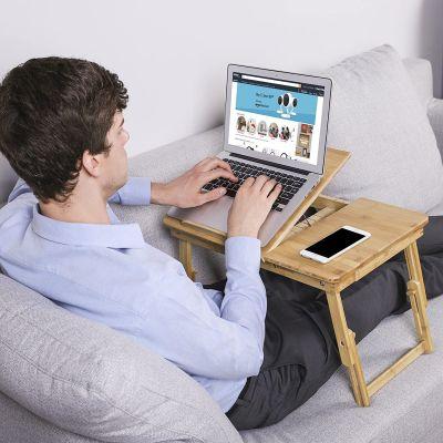 Tavolo porta laptop in bambù