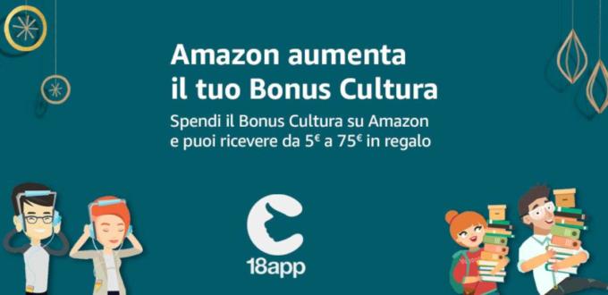 bonus cultura su amazon ottieni 80 euro