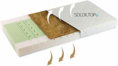 materasso per bambini fibra naturale