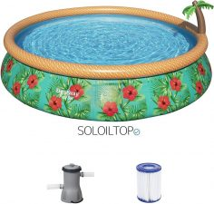 piscine fuori terra decorata