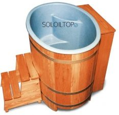 sauna da esterno botte