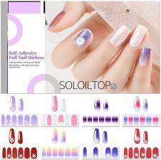 unghie finte adesive colorate
